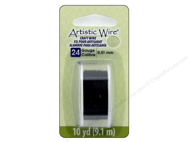 Artistic Wire 24 ga. Copper Wire 10 yd. Black