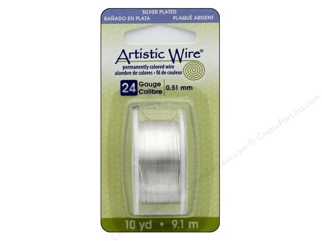 Artistic Wire 24 ga. Copper Wire 10 yd. Silver