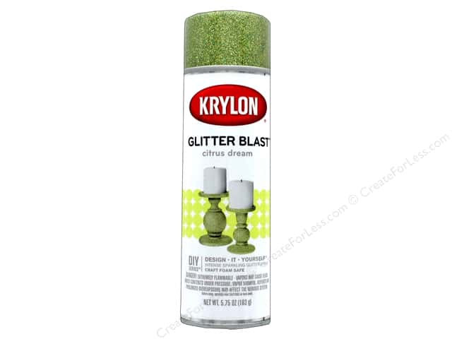 Krylon Glitter Blast Spray Paint 5.75 oz. Citrus Dream