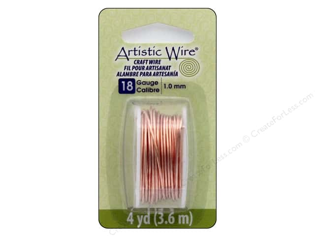 Artistic Wire 18 ga. Copper Wire 4 yd. Bare