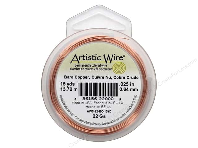 Artistic Wire 22 ga. Copper Wire 15 yd. Bare