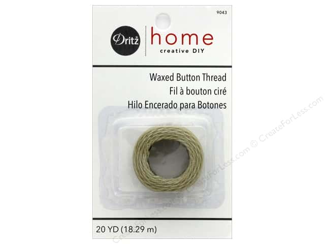 Dritz Waxed Button Thread 20 yd. Natural
