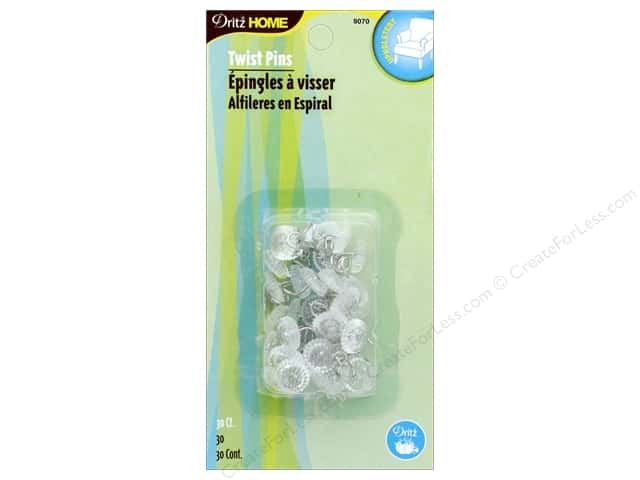 Dritz Twist Pins 30 pc. Clear