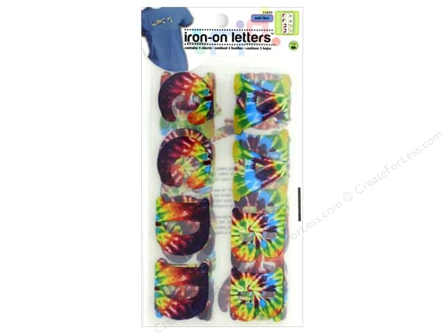 Dritz Soft Flex Iron-On Letters 1 1/4 in. Tie Dye