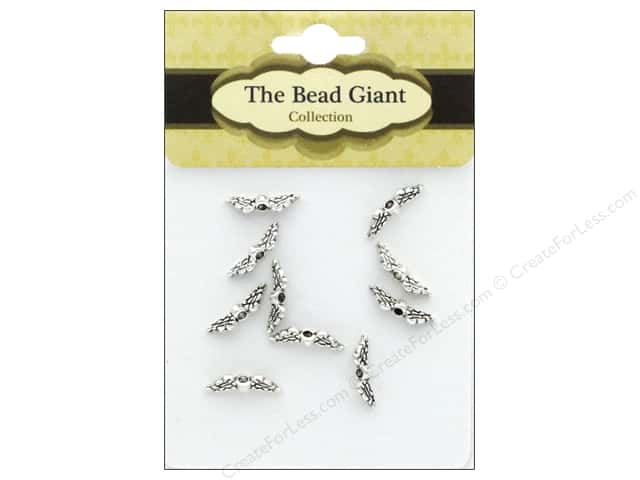 The Bead Giant Bead Angel Wing Mini Silver 10 pc