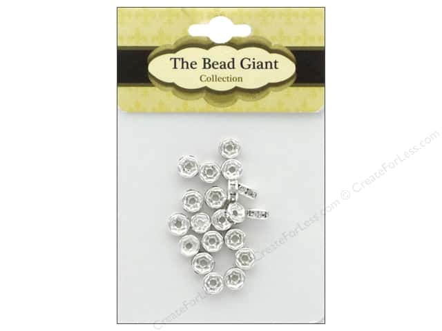 The Bead Giant Bead Disc Rhinestone 5mm Silver 18pc