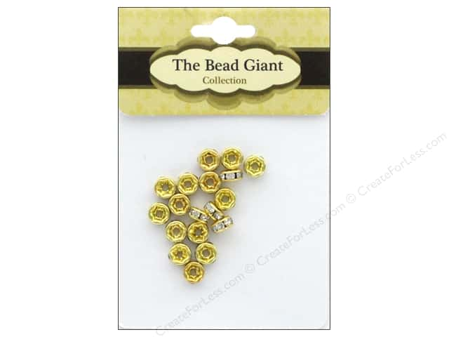 The Bead Giant Bead Disc Rhinestone 5mm Gold 18pc