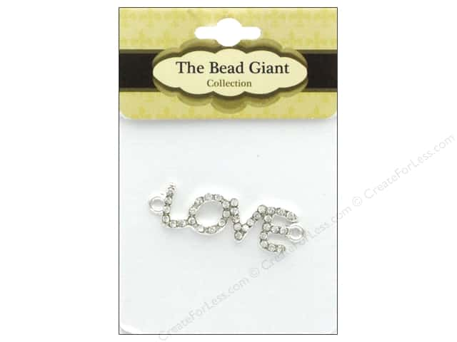 The Bead Giant Bead Love Rhinestone Silver/Crystal