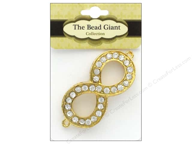 The Bead Giant Bead Infinity Rhinestone Gold