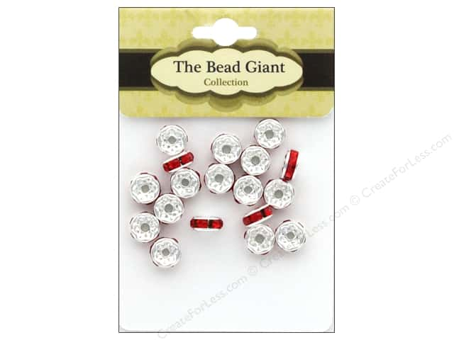 The Bead Giant Bead Disc Rhinestone 7mm Red 18pc
