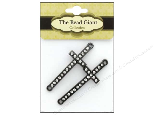 The Bead Giant Bead Cross Slim Gunmetal 2pc