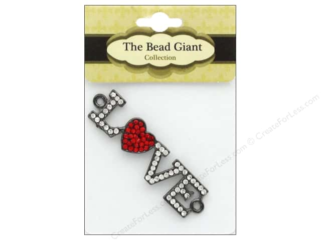 The Bead Giant Jewelry Bead Love Heart Gunmetal