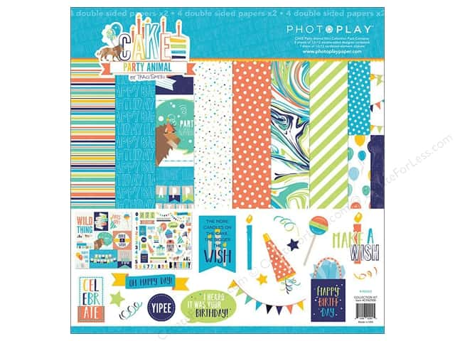 "Photo Play Collection CAKE Party Animal Collection Pack 12""x 12"""