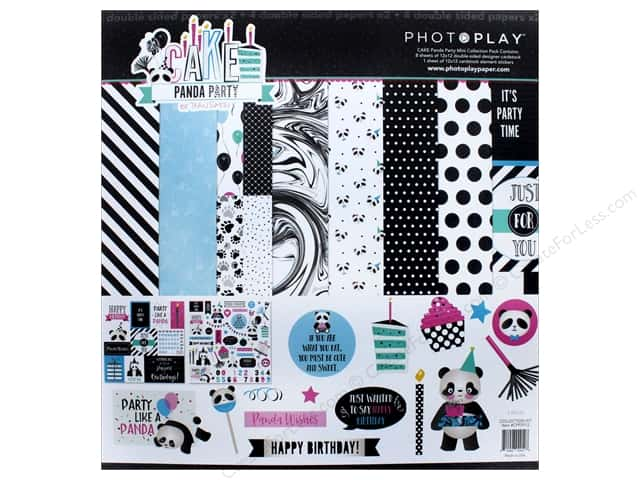 "Photo Play Collection CAKE Panda Party Collection Pack 12""x 12"""