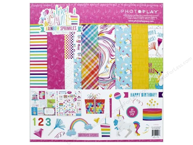 """Photo Play Collection CAKE Rainbow Sprinkles Collection Pack 12""""x 12"""""""