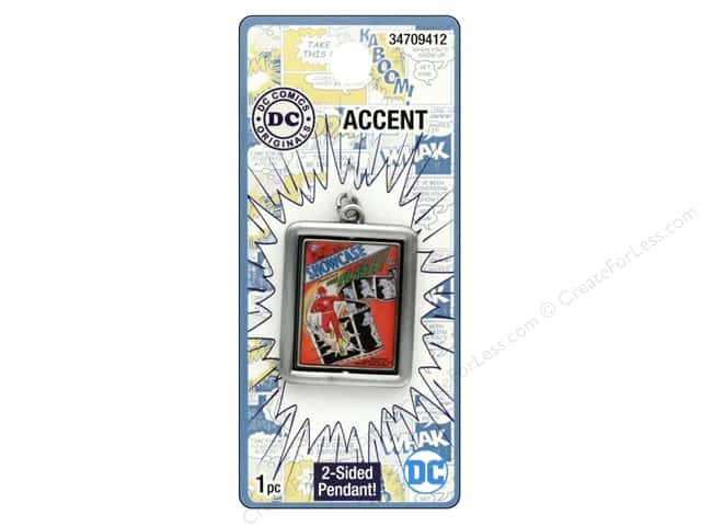 Cousin DC Comics Accent Spinner Pendant Flash Silver
