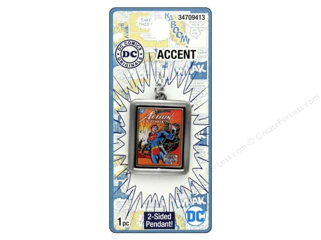 Cousin DC Comics Accent Spinner Pendant Superman Silver