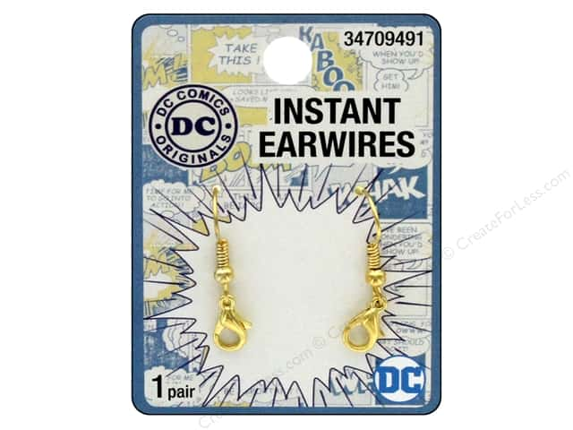 Cousin DC Comics Instant Earwires Gold