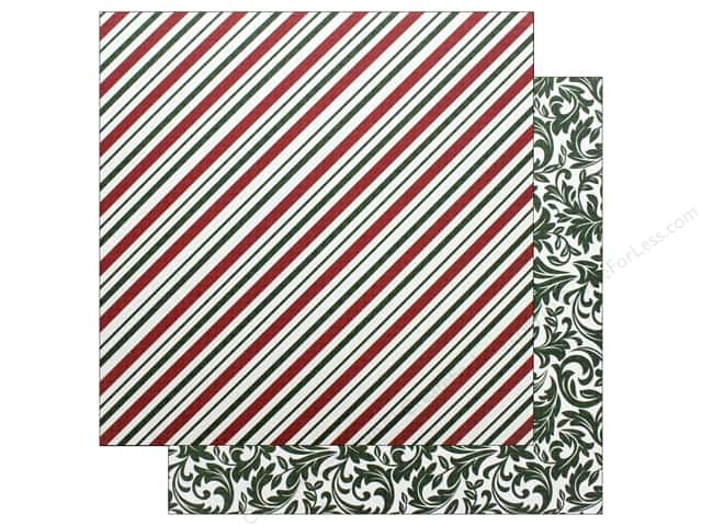 """Photo Play Collection Mad 4 Plaid Christmas Paper 12""""x 12"""" Candy Cane (25 pieces)"""