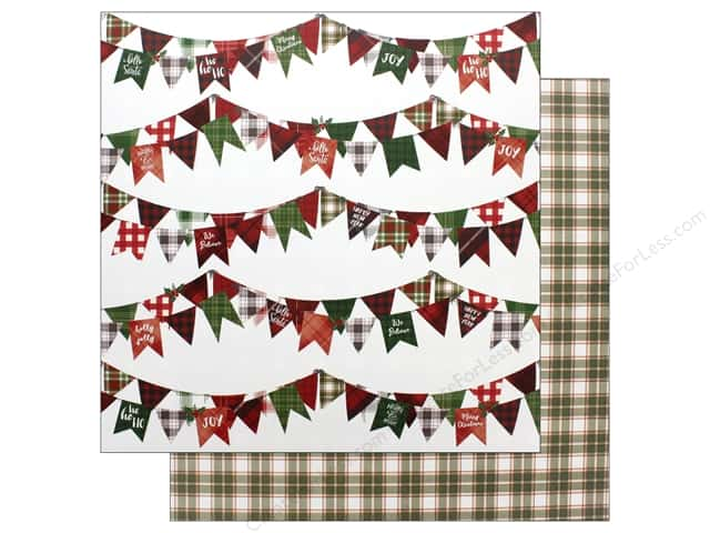 "Photo Play Collection Mad 4 Plaid Christmas Paper 12""x 12"" Joy (25 pieces)"
