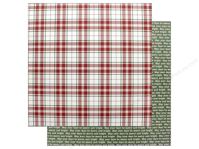 """Photo Play Collection Mad 4 Plaid Christmas Paper 12""""x 12"""" Merry (25 pieces)"""