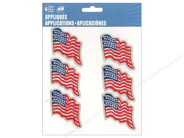 C&D Visionary Applique USA Flag 6pc