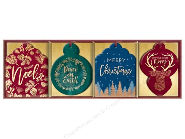 Lady Jayne Gift Tags Die-Cut Winter Glitz 16pc