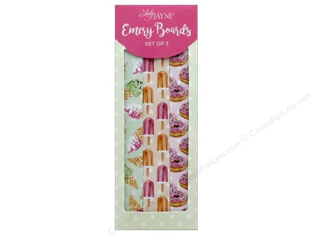 Lady Jayne Nail File Emery Board Sweet Set of 3