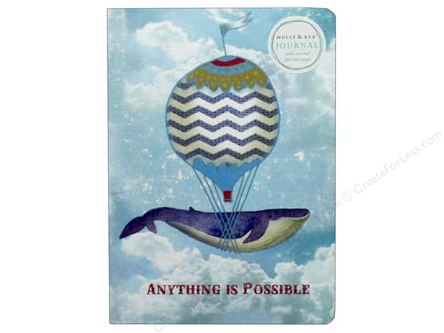 Molly & Rex Journal Soft Cover Whale Balloon