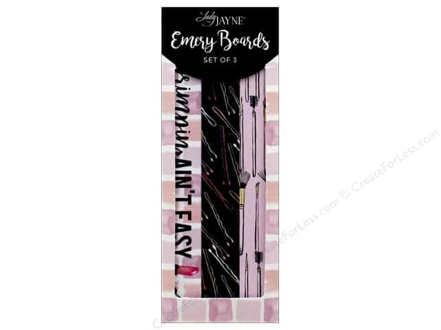 Lady Jayne Nail File Emery Board Make Up Set of 3