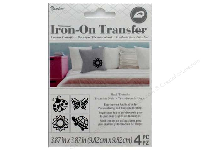 Darice Iron On Transfer Spring Black 4pc