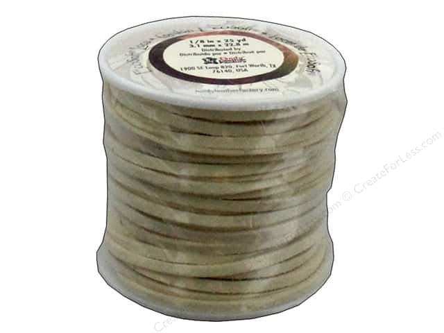 Leather Factory EcoSoft Suede Lace 1/8 in. x 25 yd. Cream