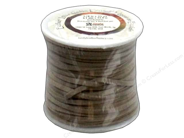 Leather Factory EcoSoft Suede Lace 1/8 in. x 25 yd. Beige