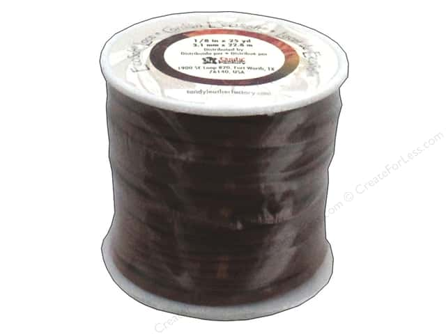 Leather Factory EcoSoft Suede Lace 1/8 in. x 25 yd. Medium Brown