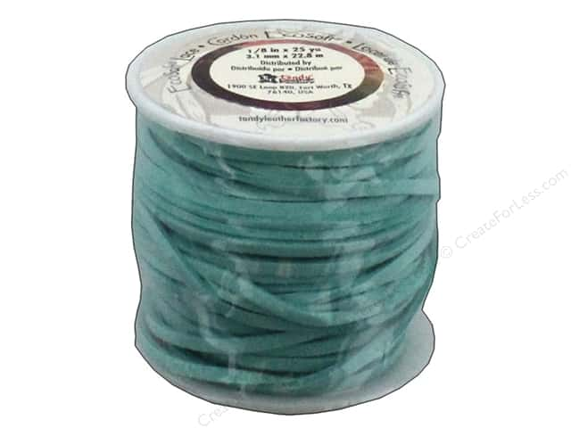 Leather Factory EcoSoft Suede Lace 1/8 in. x 25 yd. Turquoise