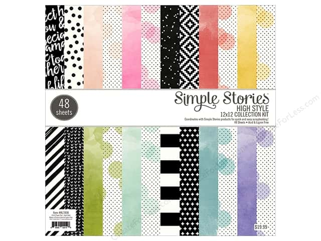 Simple Stories Paper Pad  12 in. x 12 in. High Style