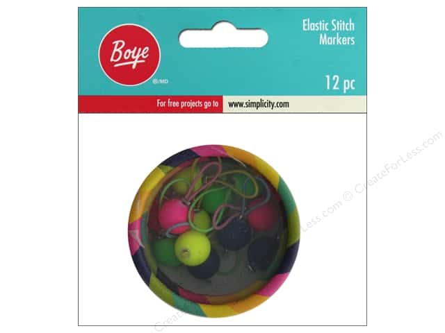 Boye Yarn Stitch Marker Elastic 12pc