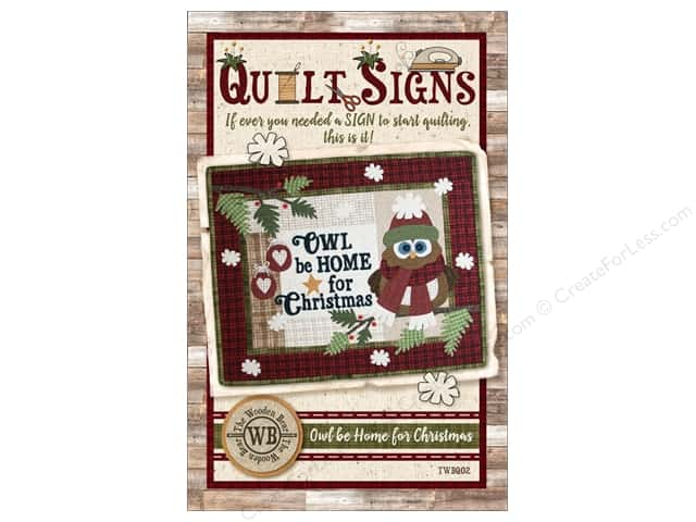 The Wooden Bear Owl Be Home for Christmas Pattern