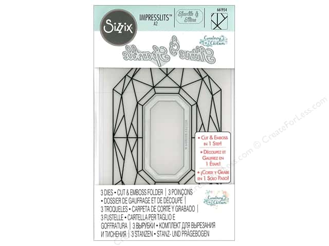 Sizzix Impresslits Emboss Folder Courtney Chilson Diamond Geometrics