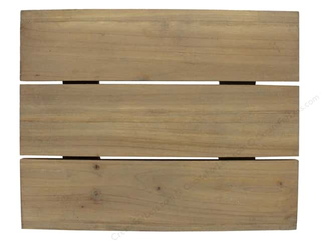 Sierra Pacific Crafts Wood Wall Hanger Slat Board 3 Planks 12 in. Natural
