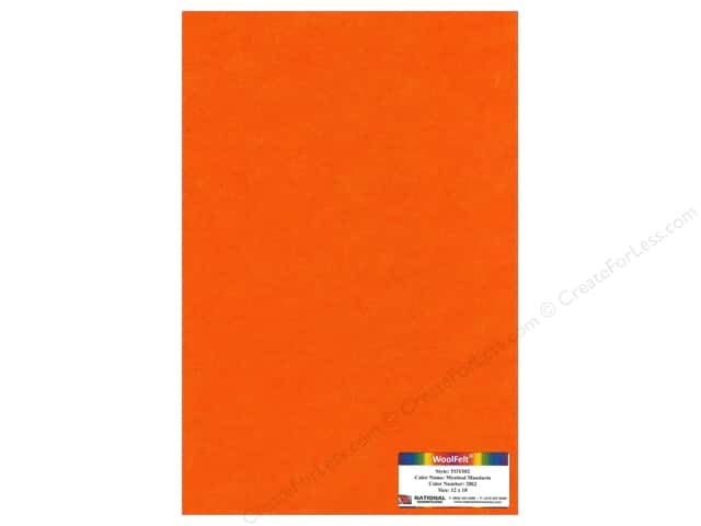 National Nonwovens 35% Wool Felt 12 x 18 in. Mystical Mandarin (10 sheets)