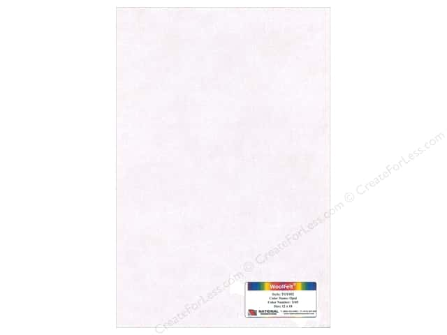 "National Nonwovens Wool Felt 12""x 18"" 35% Opal (10 pieces)"