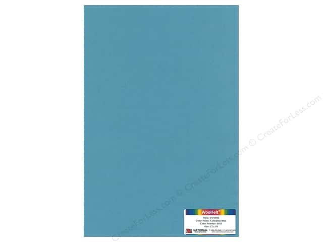 National Nonwovens 35% Wool Felt 12 x 18 in. Columbia Blue