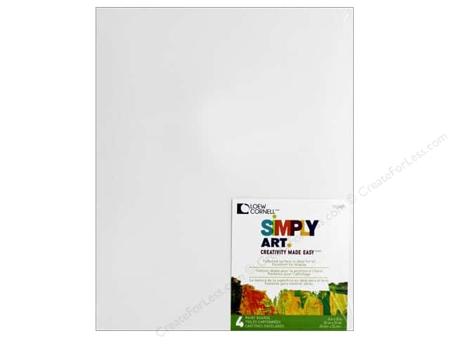 "Loew Cornell Simply Art Paint Boards 8""x 10"" 4pc"