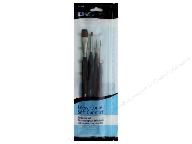 Loew Cornell Brush Set Soft Comfort Beginner 4pc