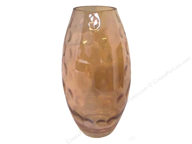 Sierra Pacific Crafts Decor Glass Vase with Round Designs Gold