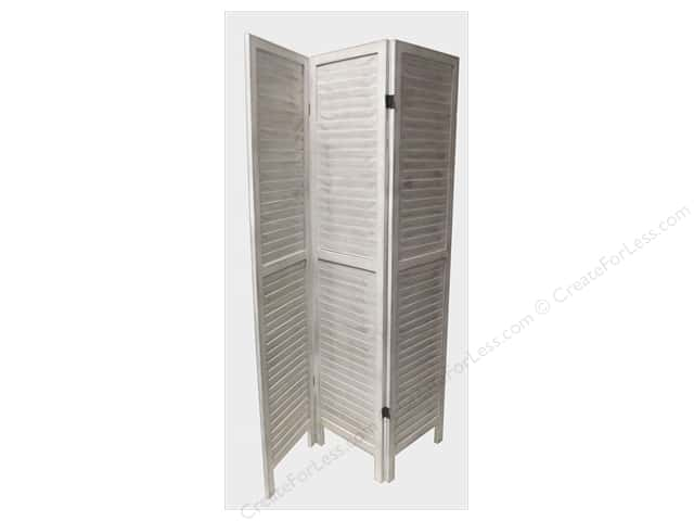 Sierra Pacific Crafts Wood Partition With 3 Slatted Sides White