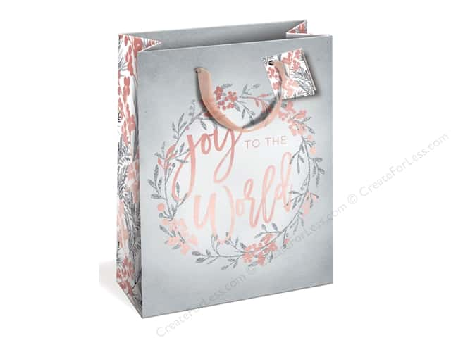 Lady Jayne Gift Bag Winter Blush Large Joy Wreath Grey