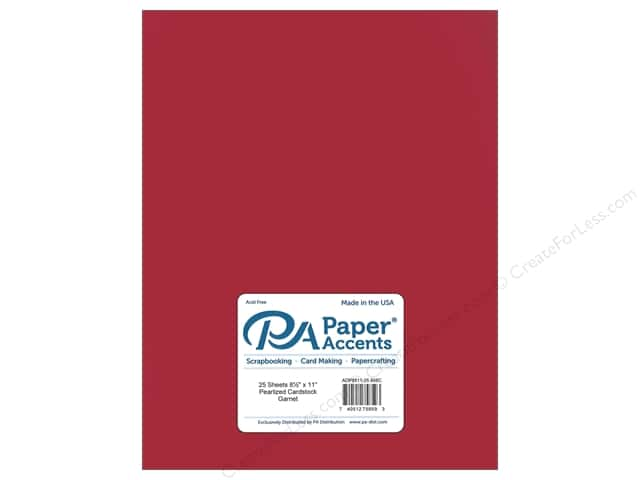 Paper Accents Cardstock 8 1/2 x 11 in. #868C Pearlized Garnet (25 sheets)