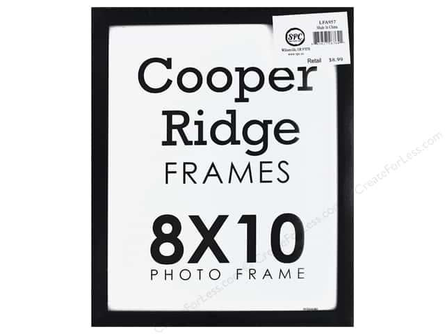 Sierra Pacific Crafts Frame Wood With Easel 8 in. x 10 in. Black
